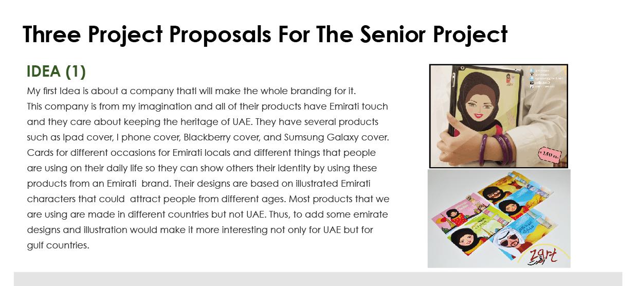 Three Ideas Proposal Graphic Design Senior Project