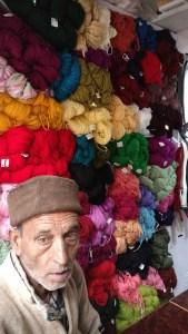 A local woolen shop at Purola