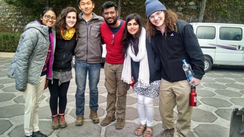 Saying goodbyes (Left to Right: Chanchal, Suz, Eric, Bala, Karishma, Will)