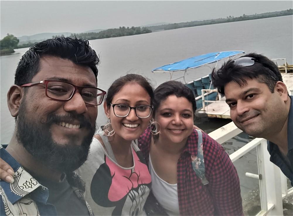 Meeting friends in Goa