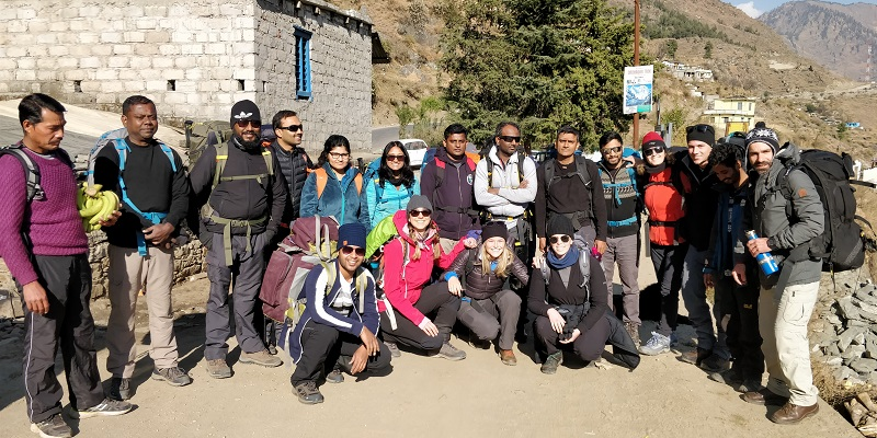 Trek Group photo_Dhak Village