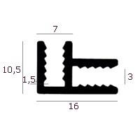 Aluminium plaathoekprofiel (model 2)