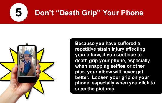 avoid death grip on phone