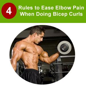 elbow pain doing bicep curls