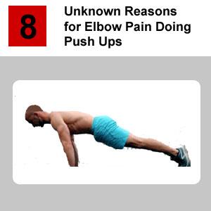 elbow pain doing push ups
