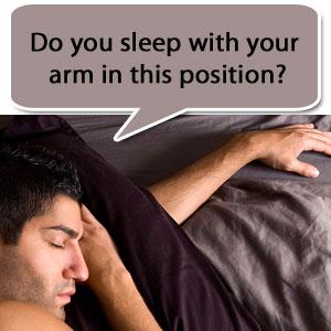 elbow pain sleeping