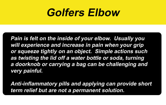 golfers elbow gripping pain