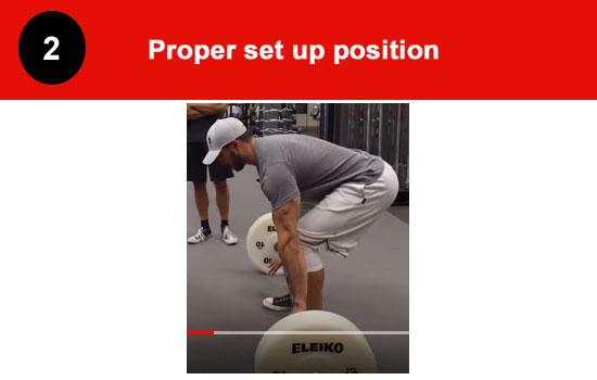 proper deadlift setup