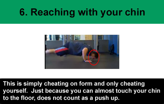 reaching with your chin push-up