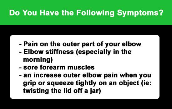 symptoms elbow tennis