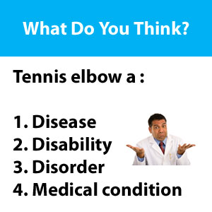 tennis elbow disease or disorder