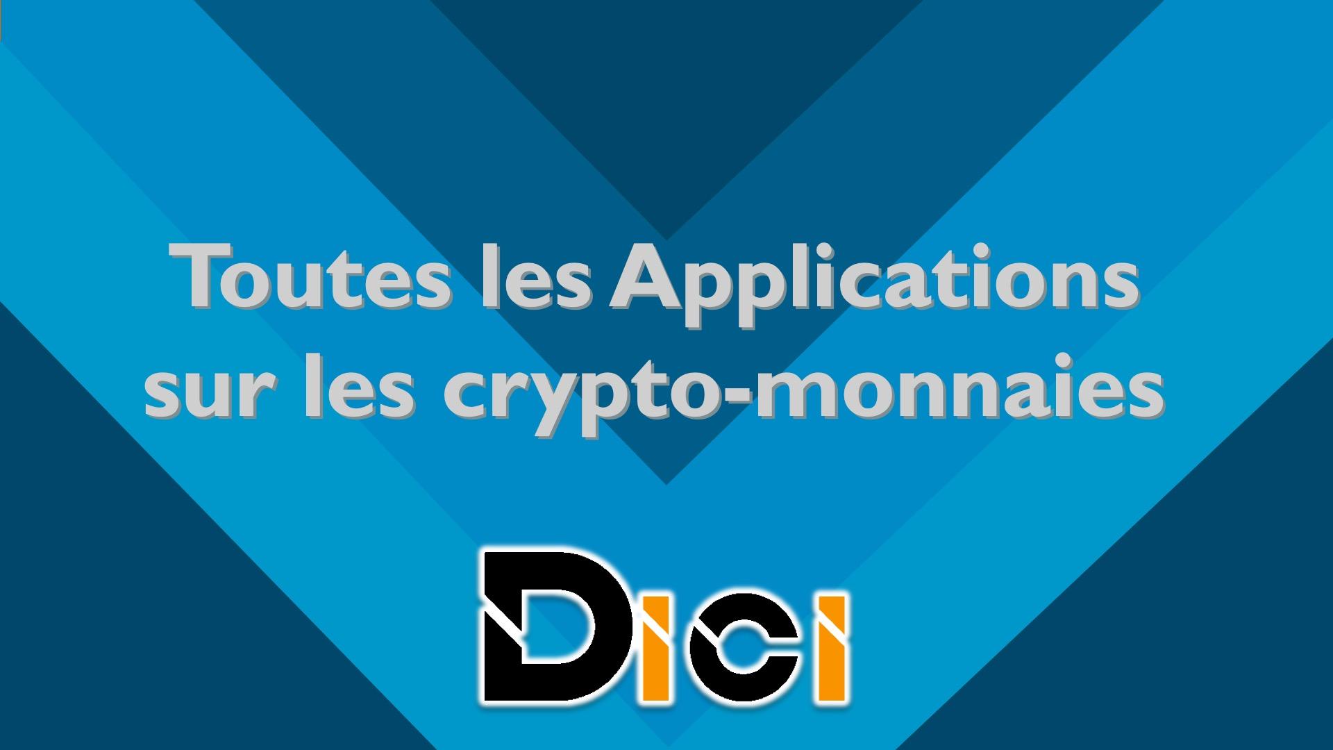 Applications Cryptos