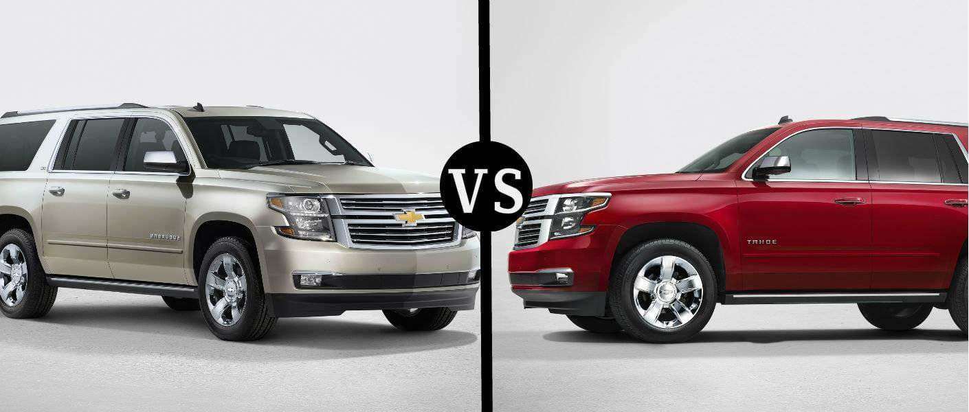 hight resolution of tahoe vs suburban what you need to know about chevy s largest suvs