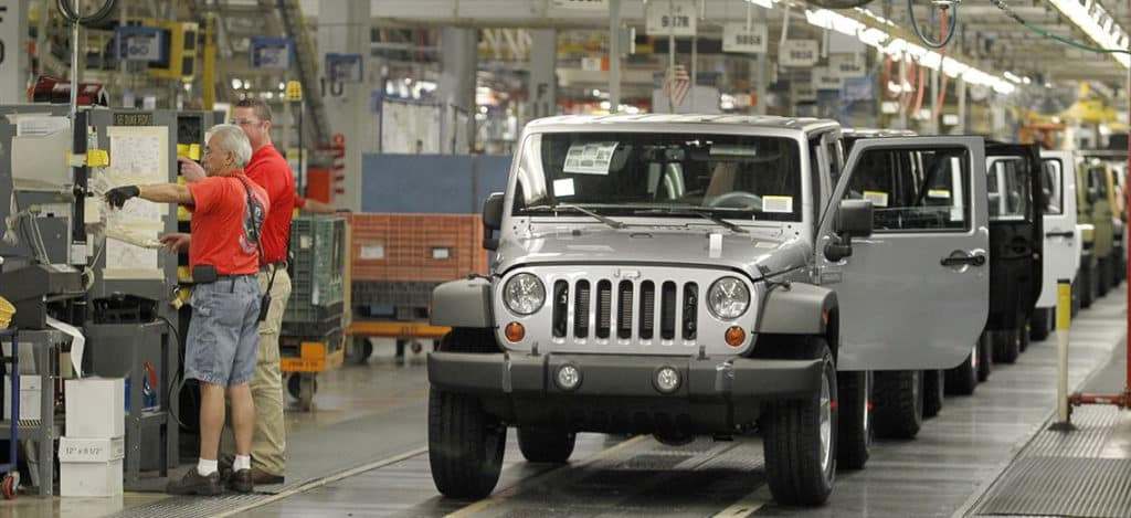 This is how Jeep wrangler is made in Michigan