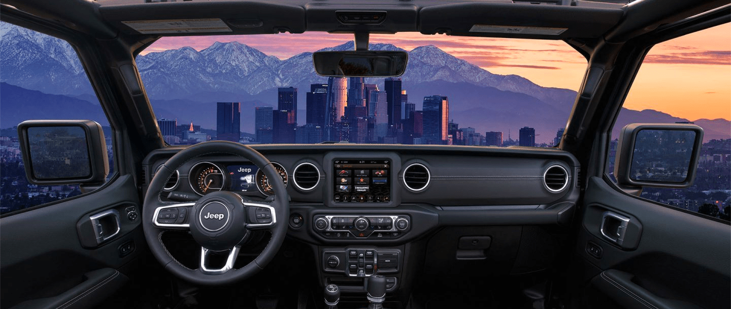 hight resolution of jeep gladiator interior features