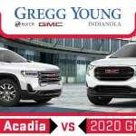 2020 Gmc Acadia Vs 2020 Gmc Terrain Size Mpg Specs And Features