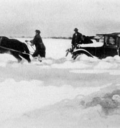 honda civic stuck in snow [ 1600 x 1102 Pixel ]