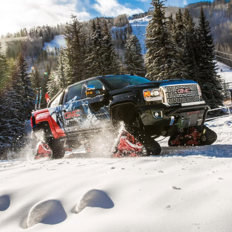 medium resolution of gmc sierra all mountain concept the ultimate snowmobile