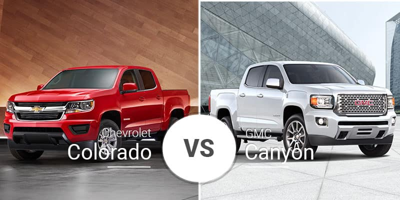 chevy colorado vs gmc canyon cross