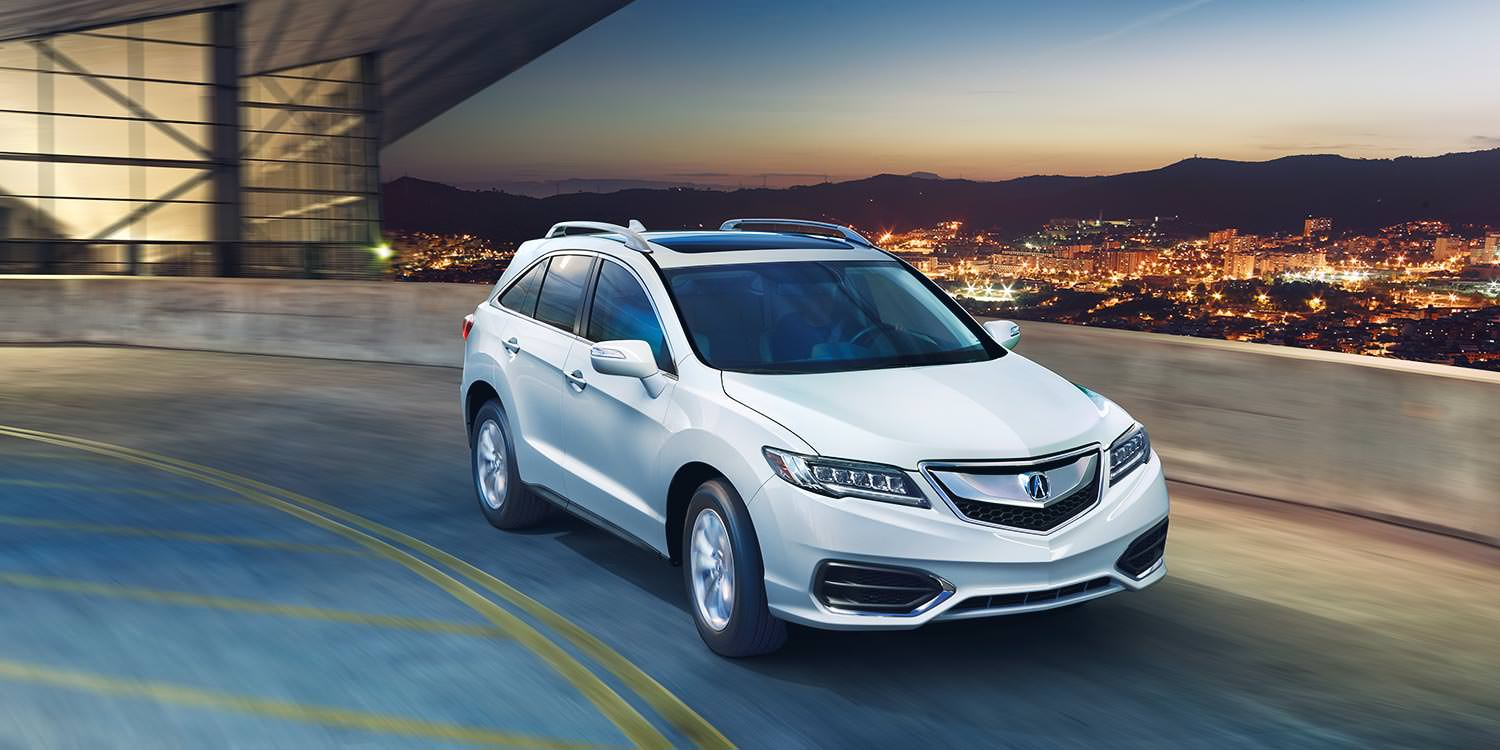 hight resolution of 2017 acura rdx white exterior night