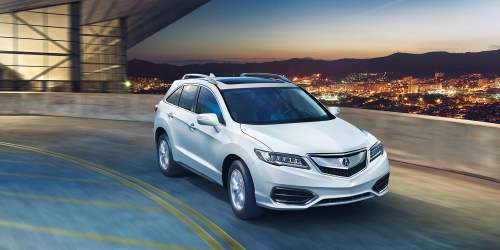 small resolution of 2017 acura rdx white exterior night