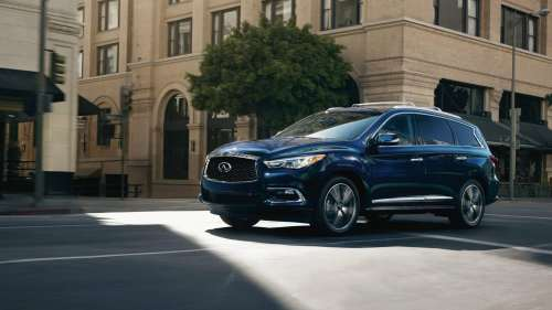 small resolution of both crossovers look great but the more toned down looks of the enclave will age with more class that said the qx60 s more striking design will attract