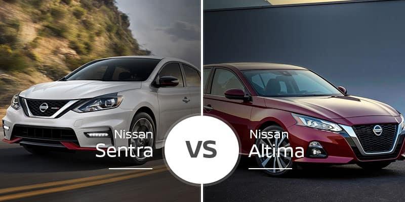 nissan sentra vs nissan altima which