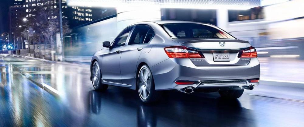 medium resolution of 2017 honda accord sedan sport silver exterior rear view
