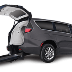 Wheelchair Car Swivel Chair And Ottoman Sets Vans Handicap Accessible Vehicles Freedom Motors Usa Chrysler Pacifica Van