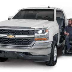 Wheelchair Lift For Truck Faux Wood Adirondack Chairs Chevrolet And Gmc Accessible Trucks Freedom Motors Usa Iridescent Pearl