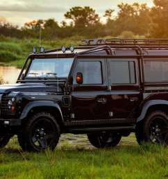 motor1 corvette powered land rover defender is beautiful in black luxury auto collection [ 1920 x 1080 Pixel ]