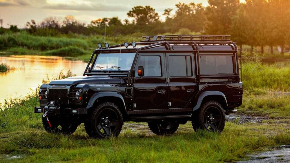 medium resolution of motor1 corvette powered land rover defender is beautiful in black luxury auto collection