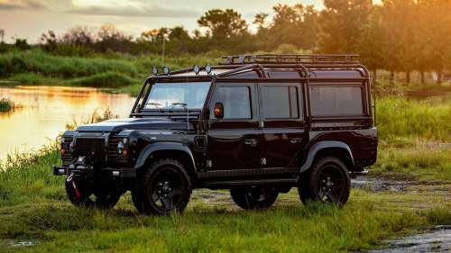 small resolution of motor1 corvette powered land rover defender is beautiful in black luxury auto collection