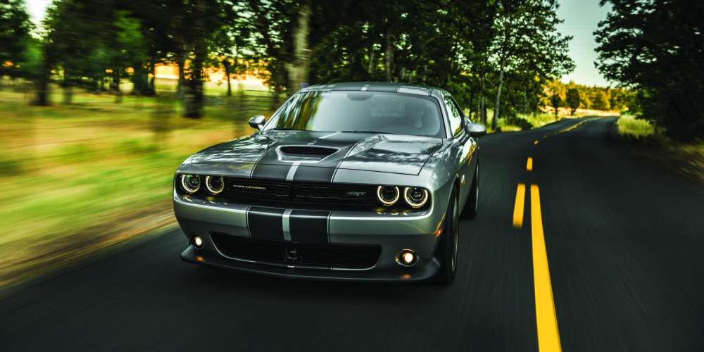 medium resolution of 2018 dodge challenger drivers side on scenic roadway