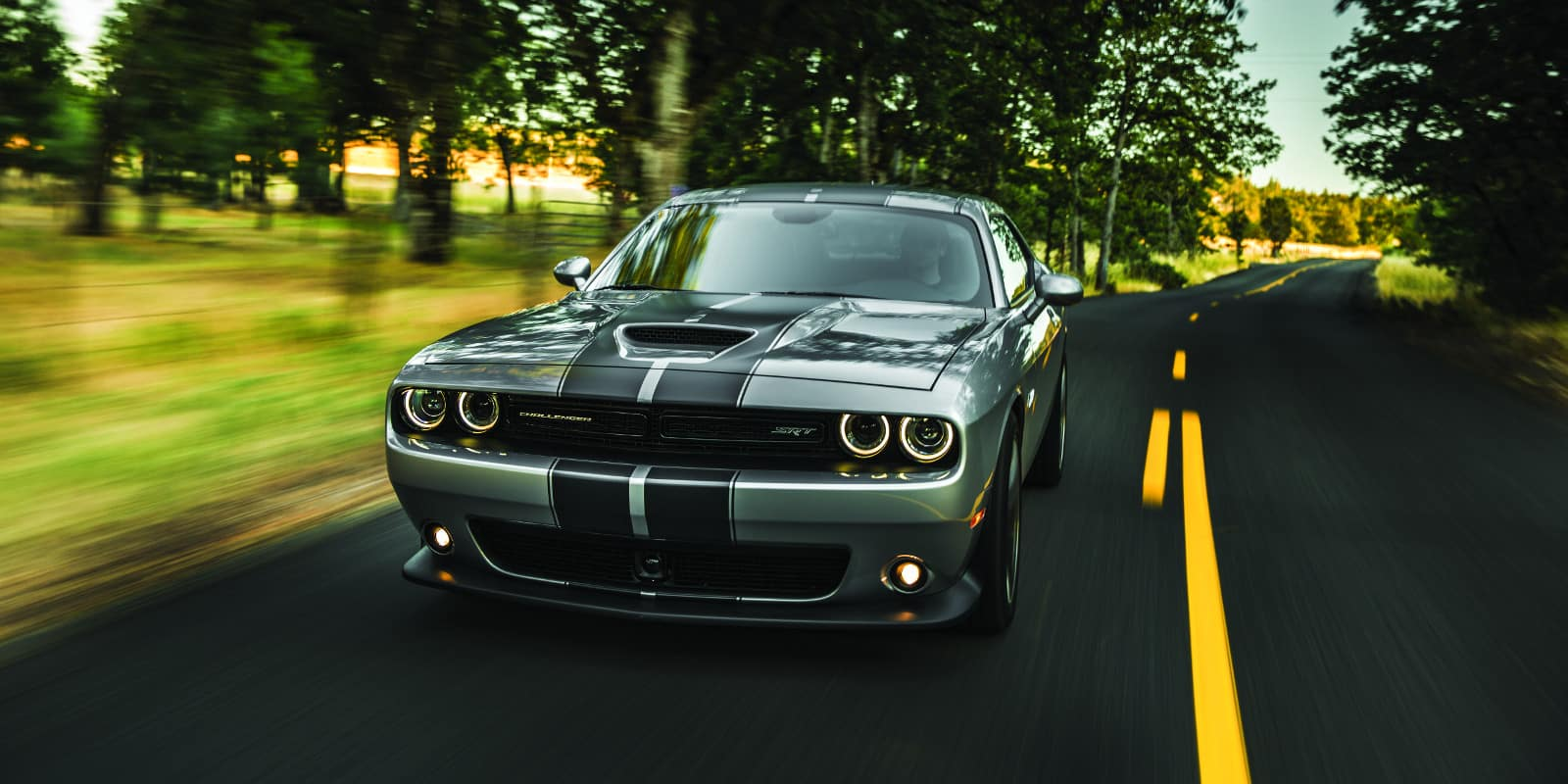 hight resolution of 2018 dodge challenger drivers side on scenic roadway