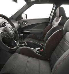 2017 nissan juke nismo interior black leather red  [ 1280 x 720 Pixel ]
