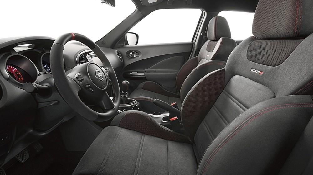 medium resolution of 2017 nissan juke nismo interior black leather red