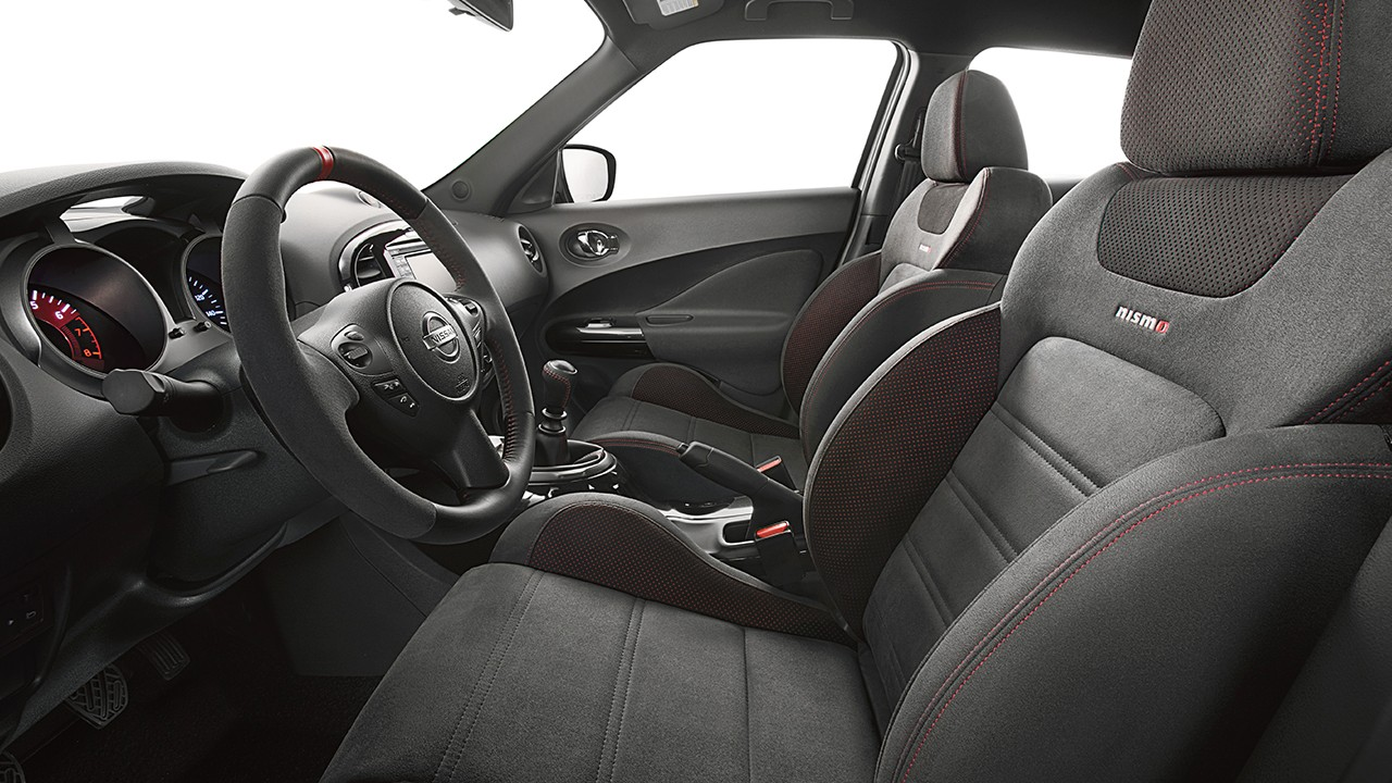 hight resolution of 2017 nissan juke nismo interior black leather red