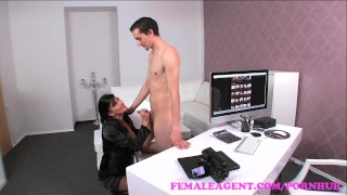 FemaleAgent. MILF is shy guys last chance to lose his virginity