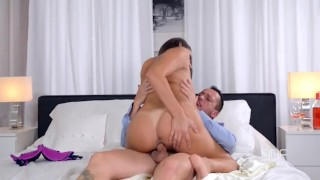 Busty European Sex Goddess gets Titty Fucked Hard