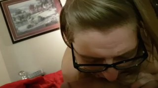 She blows me and swallows my cum