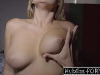 Nubiles-Pornography Busty Blonde Wakes Up To Exhausting Dick