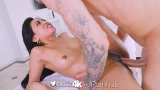 Exotic4k Thick booty Asian Ember Snow fucked by big white dick