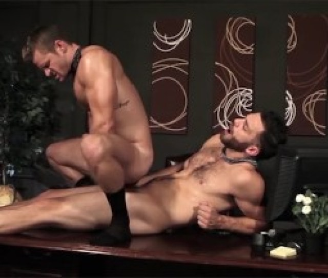 Men Com Two Hot Ripped Hunks In Suits Having Sex In Office