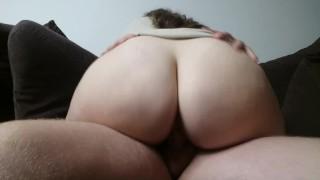 BIG BOOTY makes him cum