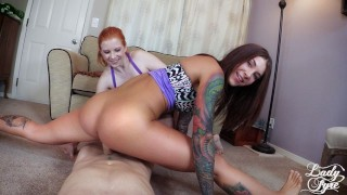 Yoga Chick Stuffed Full & Creampied Felicity Feline & Lady Fyre