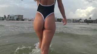 Hot Girl Thong Beach Sideboob
