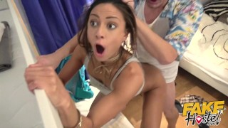 Fake Hostel Exotic French beauty with tight ass fucked hard