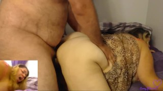 Chaturbate live stream, BBW takes it in the ass