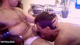 Younger BROTHER RIMS, DEEP THROATS, and RIDES HARD COCK